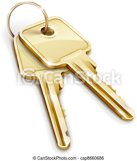Sheaf of gold keys - csp8660686