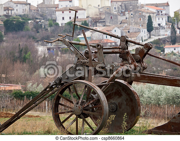 old plough - csp8660864
