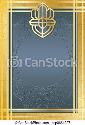 Certifikate blue/gold - csp8661327