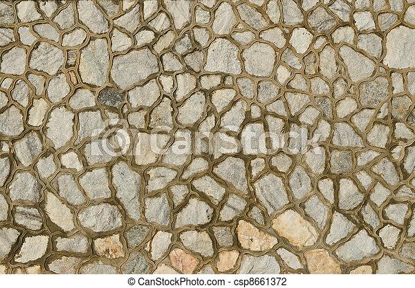 decorate granite stone wall - csp8661372