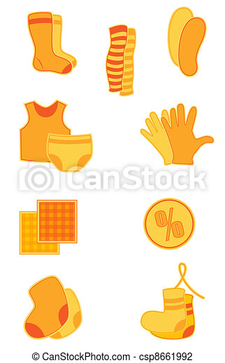 Clothes icons - csp8661992