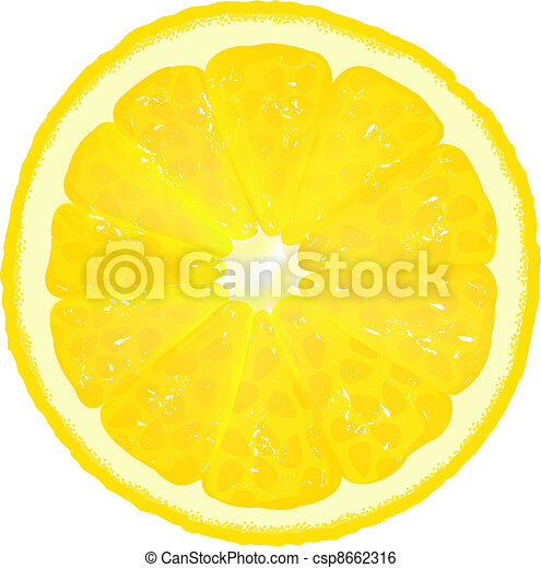 Lemon Segment With Juice - csp8662316