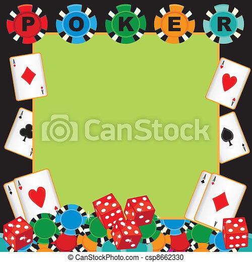 Poker party gambling invitation - csp8662330