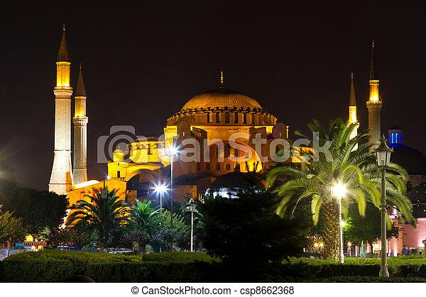 Hagia Sophia museum from Istanbul, turkey - csp8662368