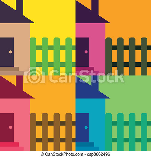 house with fence - csp8662496