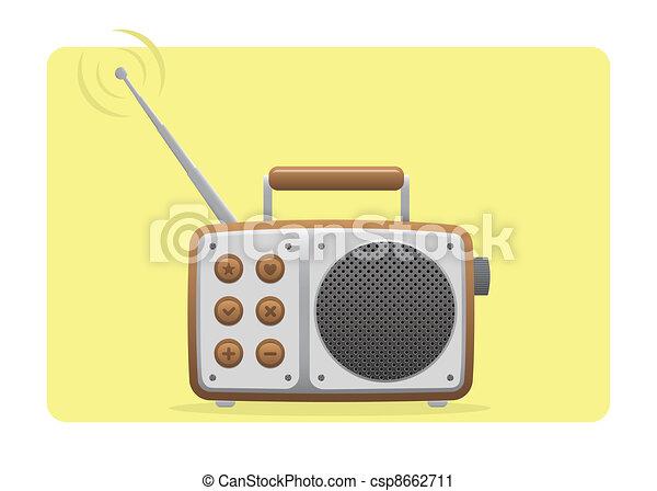 Old Radio Receiving Set - csp8662711
