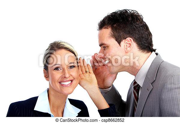 Hearing woman. - csp8662852