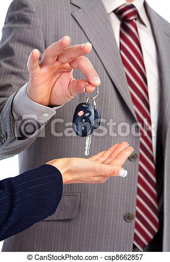 Car key. - csp8662857