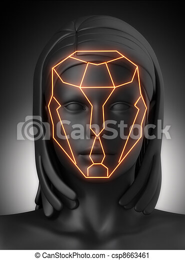 Plastic surgery beauty proportion lines - csp8663461
