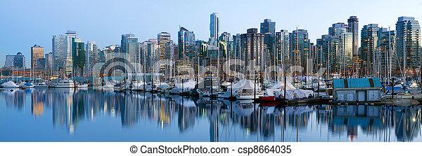 Vancouver BC Skyline along False Creek - csp8664035