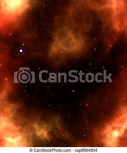 nebula gas cloud in deep outer space - csp8664804