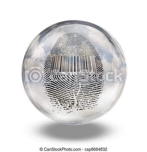 Barcode Fingerprint - csp8664832