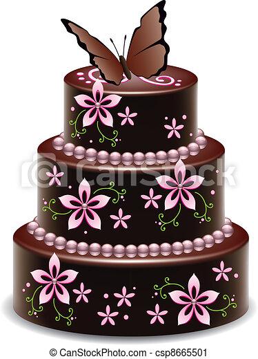 Chocolate Cake Graphic Image