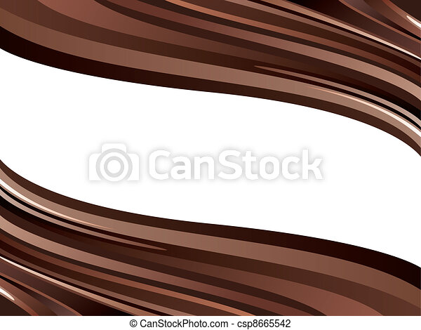 vector two glossy chocolate waves  - csp8665542