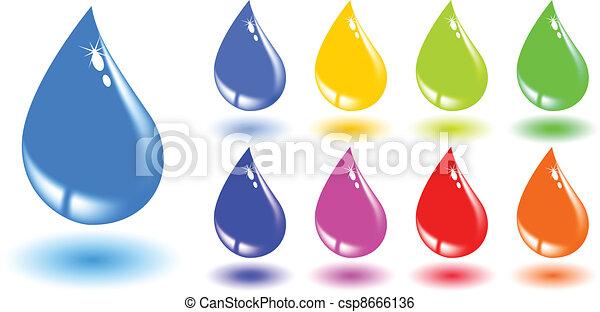 the vector color drop set - csp8666136