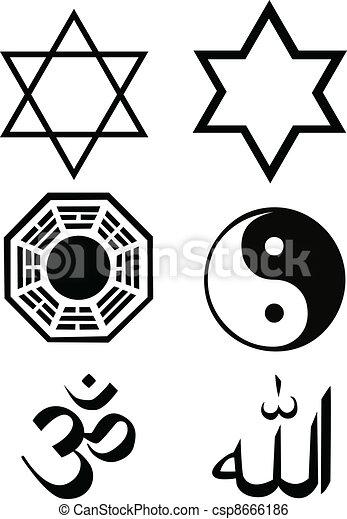 the vector religion symbol set - csp8666186