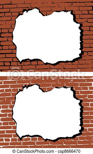 Clipart vecteur de mur trou vecteur brique les for Reboucher des trous dans le mur