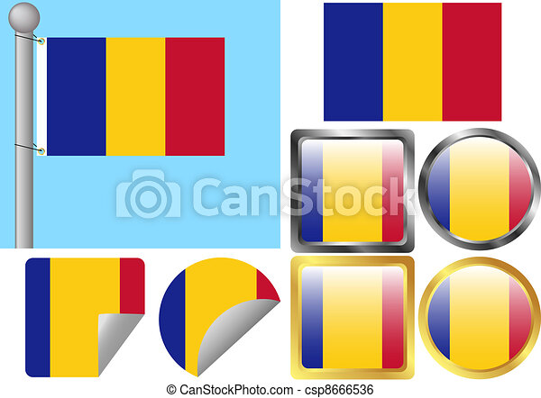 Flag Set Romania - csp8666536