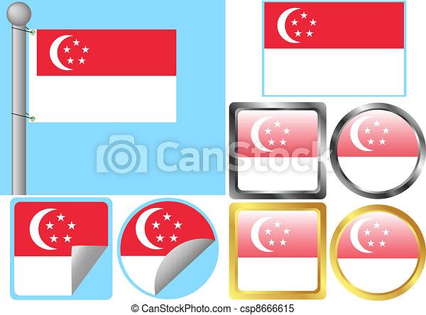 Flag Set Singapore - csp8666615