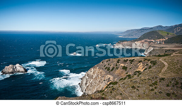 Pacific Coast Highway view - csp8667511