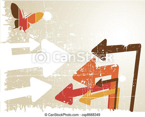the vector retro grunge background - csp8668349
