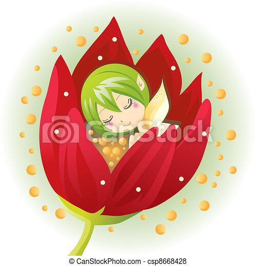 Newborn Flower Fairy - csp8668428