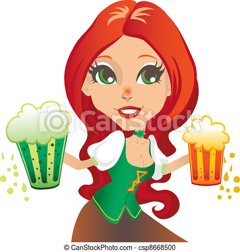 Saint Patrick Waitress - csp8668500