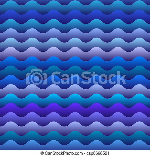 seamless pattern of  blue waves - csp8668521