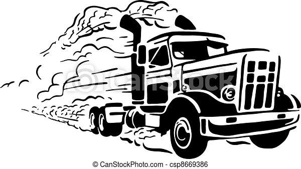 Vintage truck - csp8669386