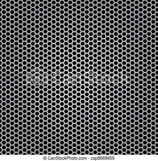 chrome texture grill metal isolated - csp8669959