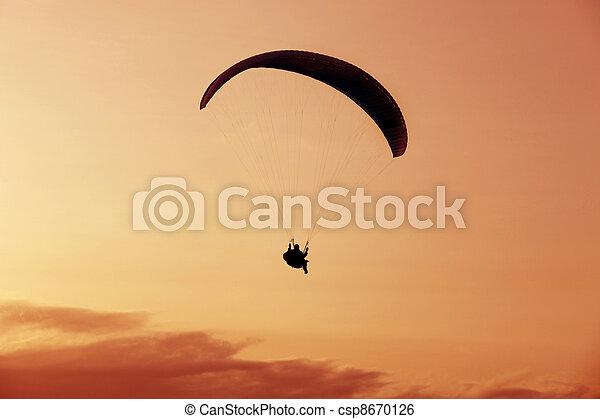 Paragliding - csp8670126