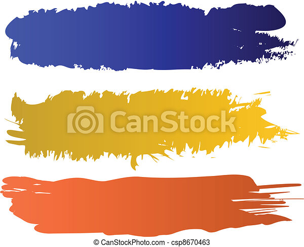vector color banners set - csp8670463