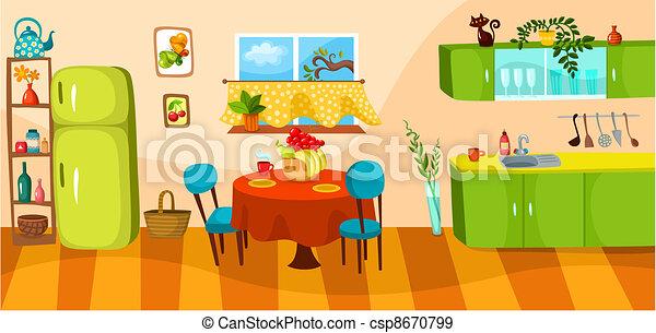 vecteurs eps de cuisine vecteur illustration de a cuisine csp8670799 recherchez des. Black Bedroom Furniture Sets. Home Design Ideas