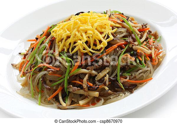japchae, korean cuisine - csp8670970
