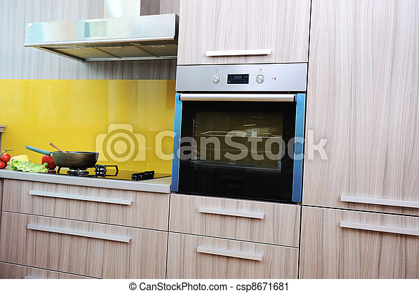 Modern kitchen with nobody in - csp8671681