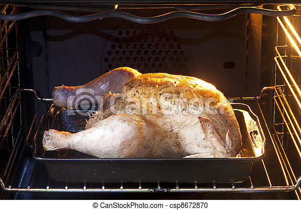 Chicken in oven - csp8672870