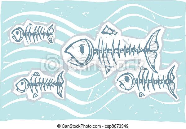Dead Fish Swim - csp8673349