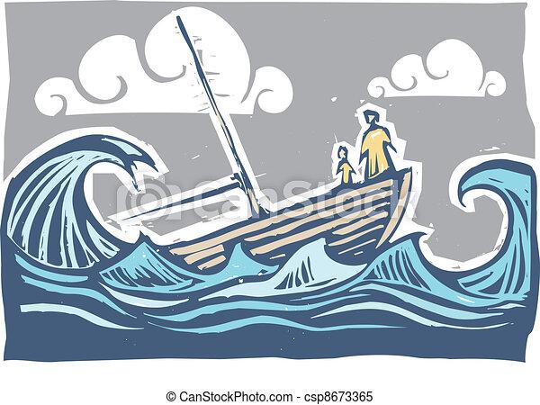 Sinking boat #3 - csp8673365
