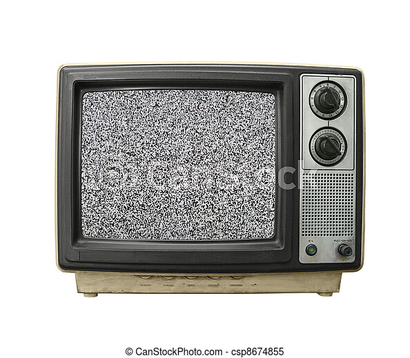 Grungy TV Static - csp8674855