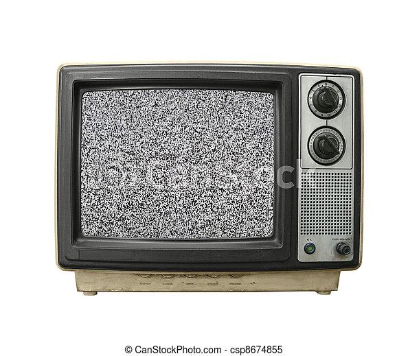 Grungy TV Static  - csp8674855
