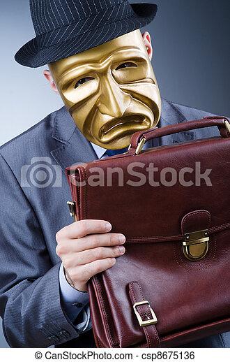Businessman in industrial espionage concept - csp8675136