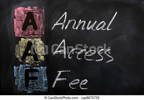 Acronym of AAF for Annual Access Fee - csp8675735