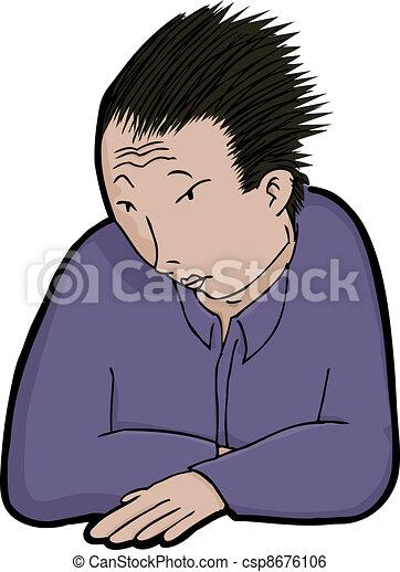 Asian Man in Solitude - csp8676106