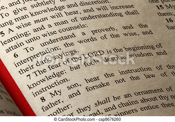 A passage from the Book of Proverbs - csp8676260