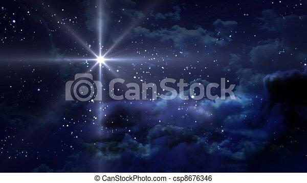 blue Starry Night - csp8676346