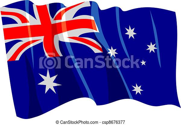 Vectors Illustration of Political waving flag of Australia ...