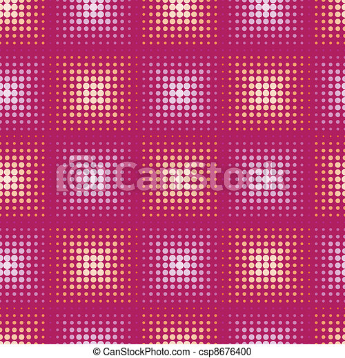 Seamless abstract pattern with stylized circle. Vector - csp8676400