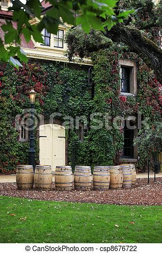 Napa valley vineyard, California - csp8676722
