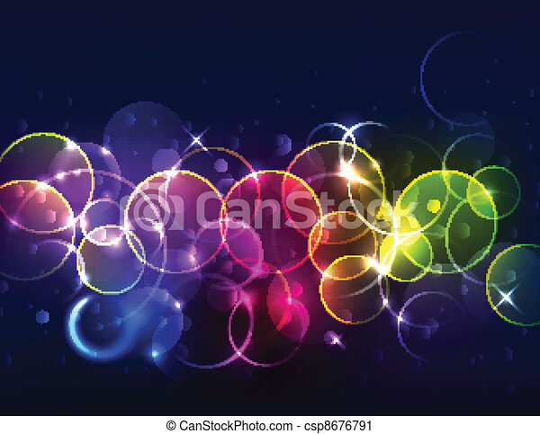 Sparkly de-focused background - csp8676791