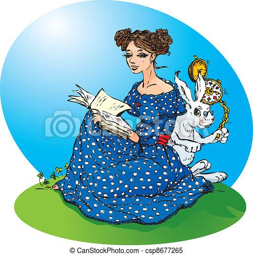 Alice`s adventures in Wonderland. - csp8677265